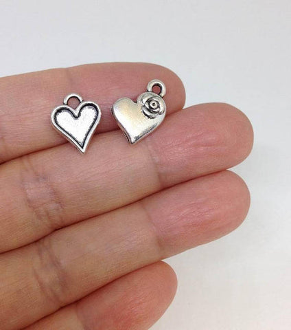 20pcs Heart charm wholesale