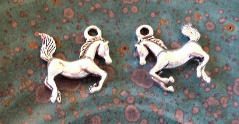 6 Horse Charm, Galloping Horse charm, Pony charm, Animal Charm, Farm Animal Charm, Farm Charm