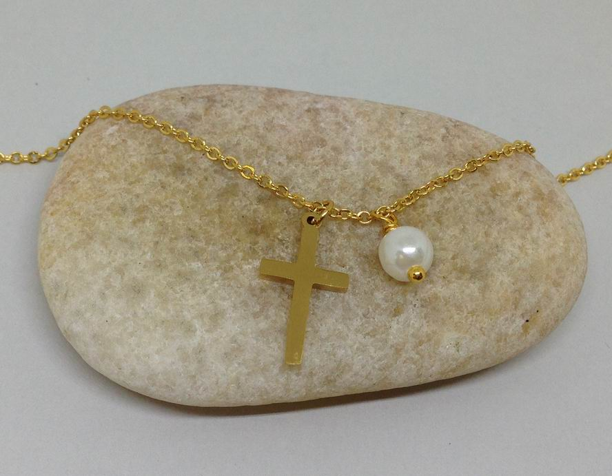tiny minimalist christian necklace
