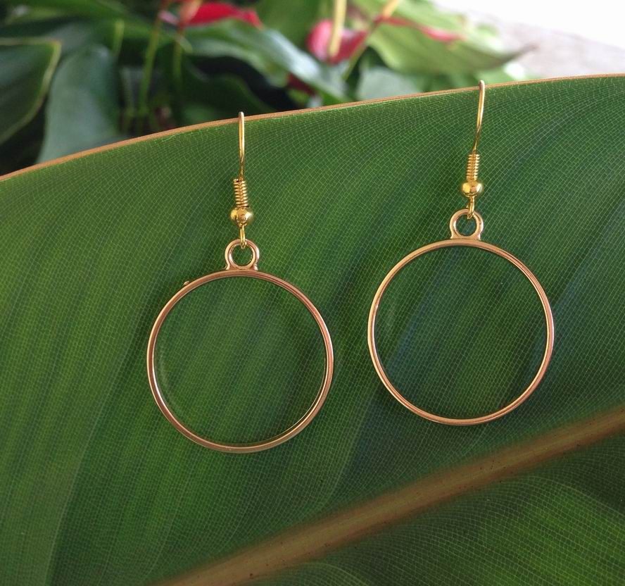 dangle earrings Circle geometric wholesale