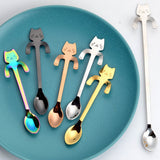 Cat Coffee Spoon, Coffee Novelty, Coffee Stirrers