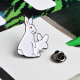 Bunny Humor Enamel Pin - Pin Collection -funny Lapel Pin wholesale