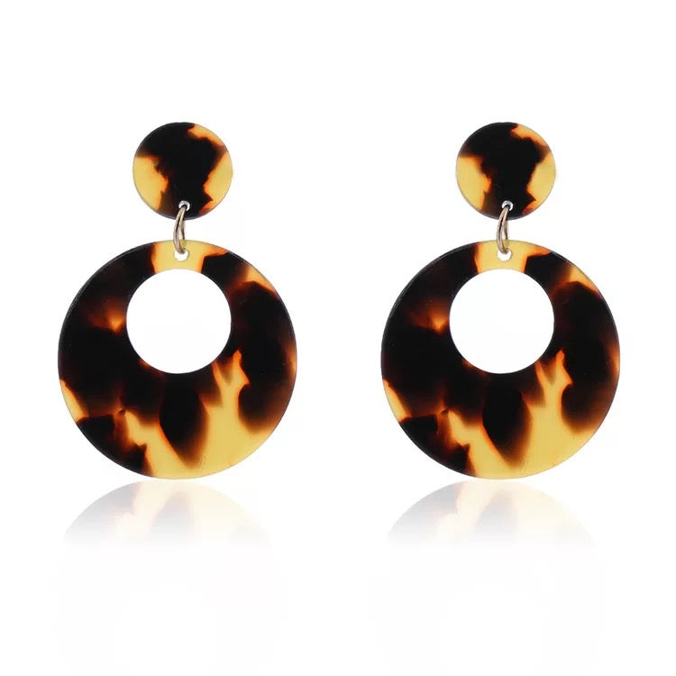 Hoop Acetate Tortoise Shell earrings