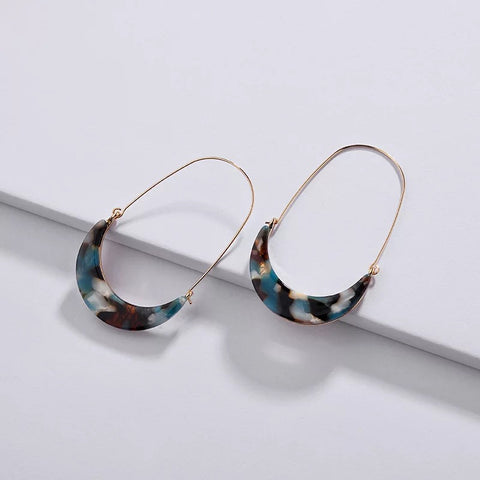 Wholesale Acetate Trendy statement Earrings Tortoise Shell Acrylic