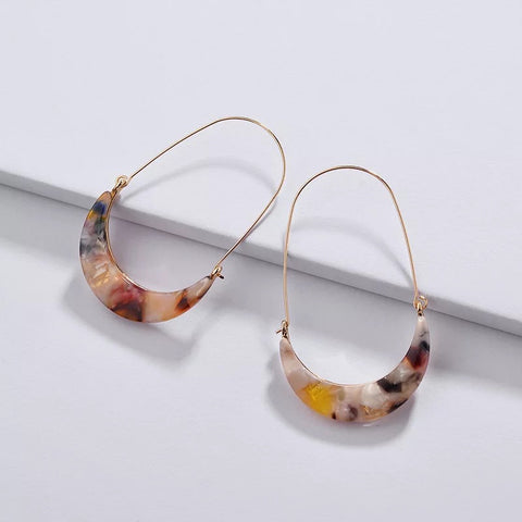 Leopard Print Acetate Trendy statement Earrings
