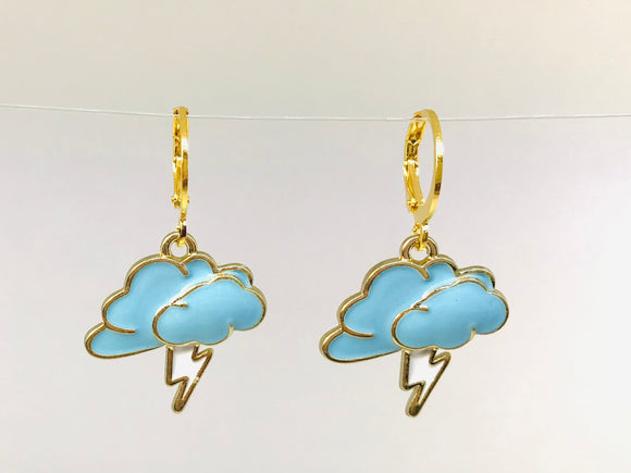 Thunder and Cloud Earrings