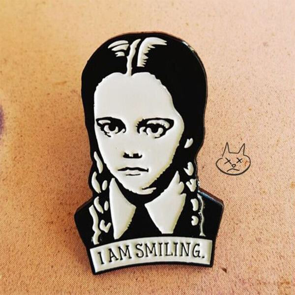I am Smiling Adam's Family Enamel Pin