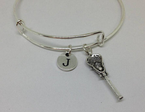 La Crossee Charm Personalized Bangle Bracelets