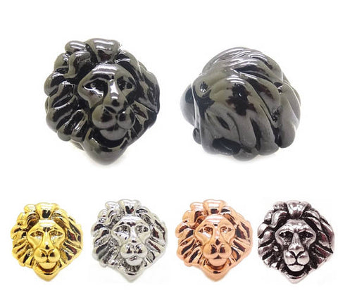 Lion Face Spacer Beads, Men Bracelet Charm, Men Bracelet Spacer Charm