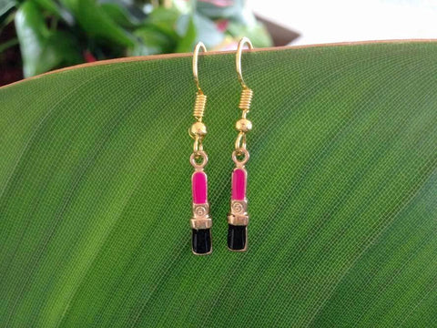Lipstick Earrings, Cosmetician Earrings