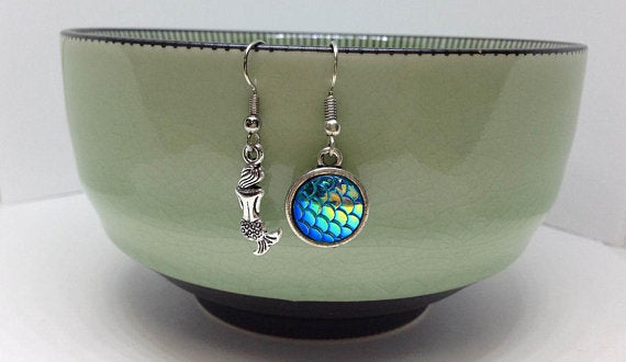 Mermaid Charm Earrings