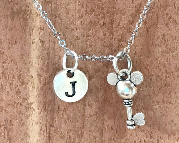 Mickey Mouse Key Charm Personalized Necklace