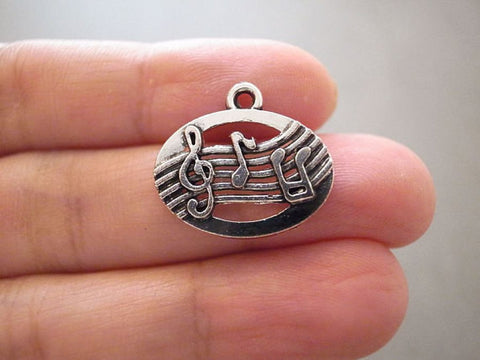 15pcs Musical Notes Charm Musician Music
