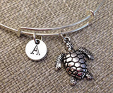 Turgle bangle, Sea Turtle Bracelet, mammals charm bracelet, Sealife bangle, Animal personalized bracelet, initial bracelet, Bridesmaid Gifts ( Free Shipping )