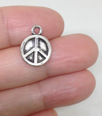 12 Peace Sign Charms DIY Wholesale
