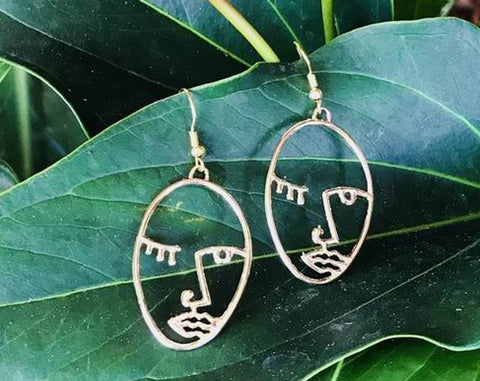 wholesale picasso face earrings