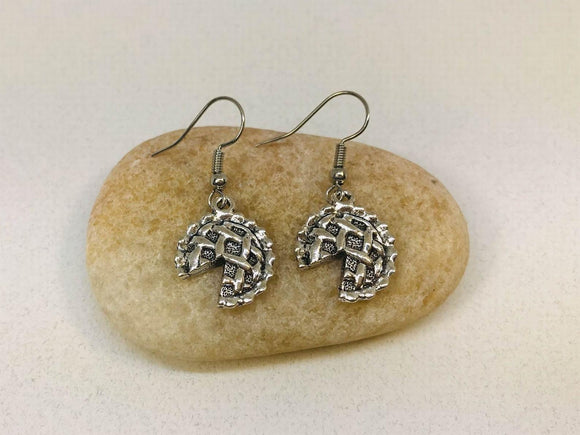 Pie Earrings, Pie Gift, Baking earrings