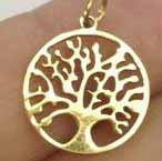 6 Stainless Steel Tree of Life Charms, gold or silver Tree Of Life charm, Stainless Charm