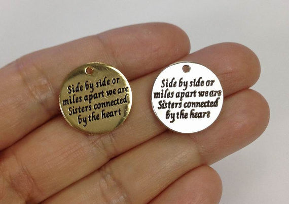 5 Side by Side Or Miles SISTERS CHARM