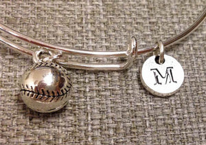 Softball Charm Bangle, Basetball bracelet