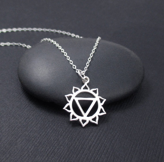Meditation yoga charm necklace