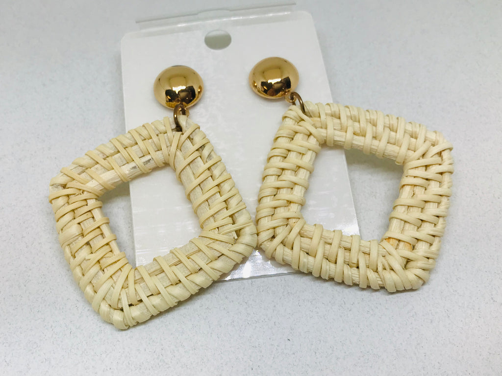 Rattan Earrings Hoop