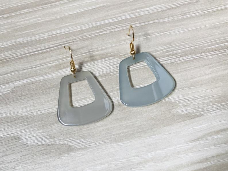 Transparent Trapezoid Earrings