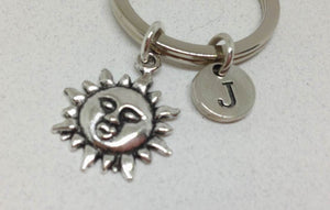 Sun Face Key Chain