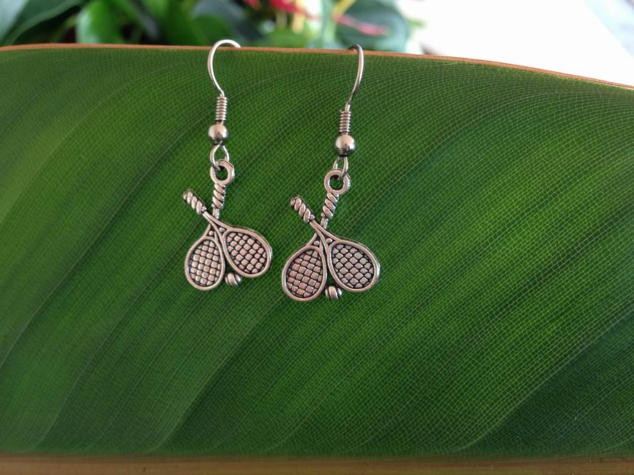 Tennis Racket charm earrings