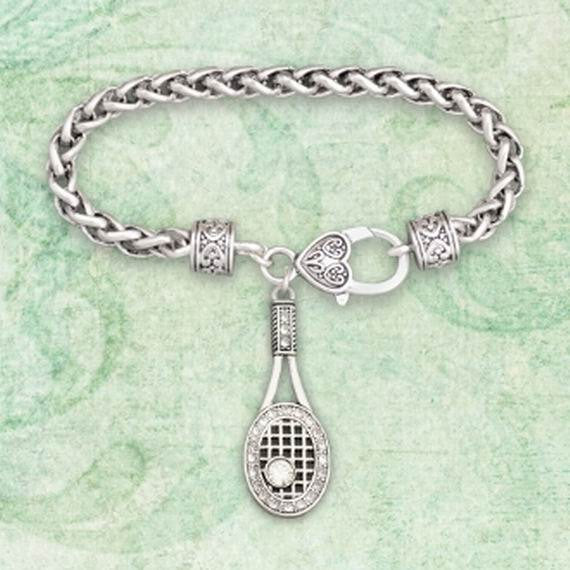 TENNIS RACKET Toggle Bracelet, Sports Bracelet, Tennis Bracelet Tennis Racket Jewelry Bracelet