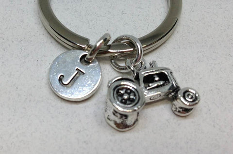 3D Tractor Charm Key Chain