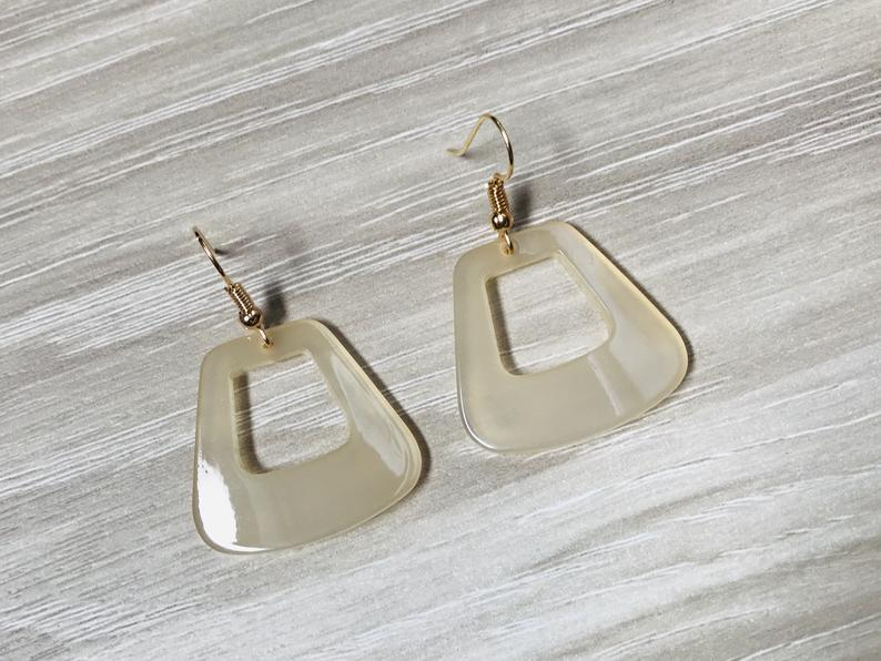 Transparent Acrylic  Geometric Earrings