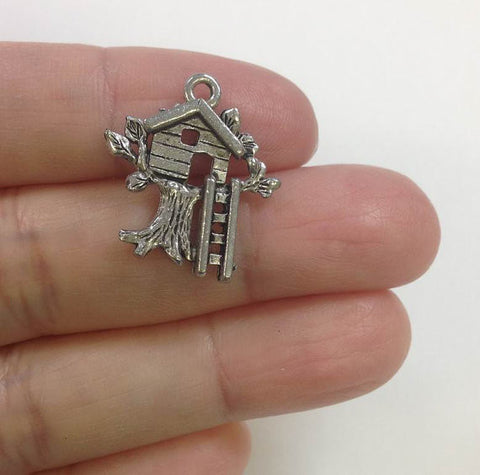10pcs Tree House Charm