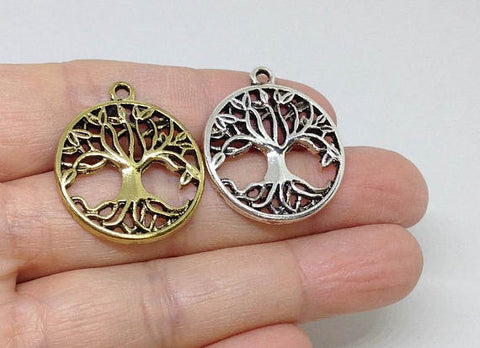 6 Tree of Life Charm, Tree Charms, Family Tree Charms, Family Charms