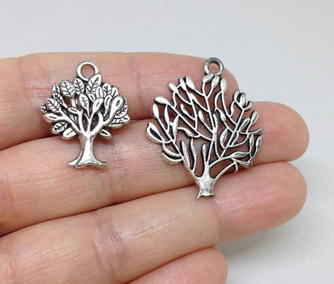 6 Tree of Life Charm, Tree of life Silver Charm, Family Tree Charm, Family Charm