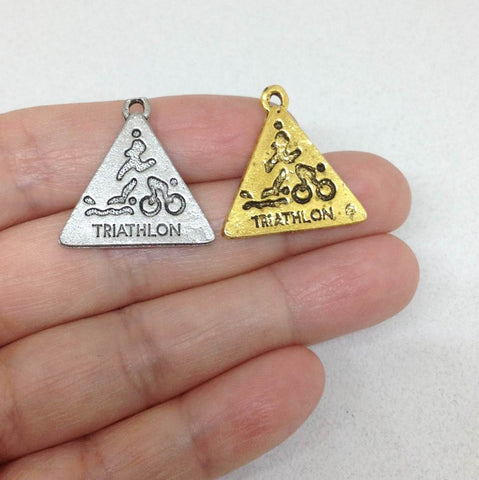 10 pcs Triathlon Charm, Athlete Charm