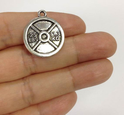 cross fit weight lifting charm