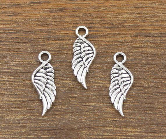 20 Angel Wing Charm