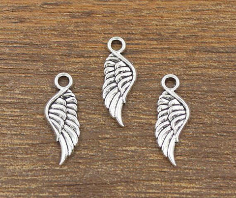 30 pcs Angel Wing Charm