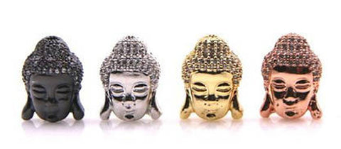 Micro Pave cz Zirconia Buddha Beads, Buddha Space Beads for Mens Bracelet