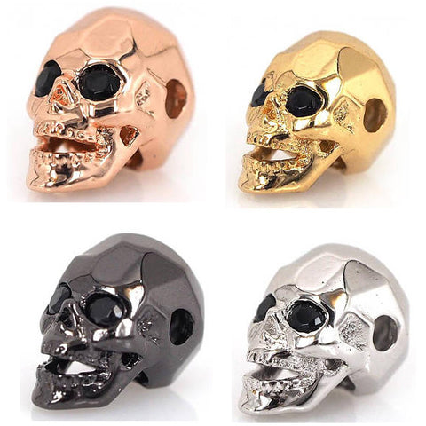 Micro PaveCZ Skull Beads