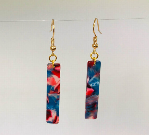 Acrylic Rectangle Holographic Earrings