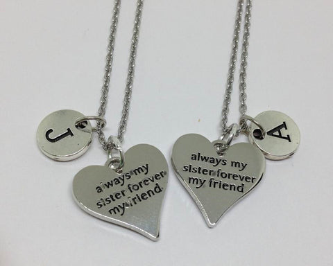 Best Friends Sisters Charm Personalized Necklace
