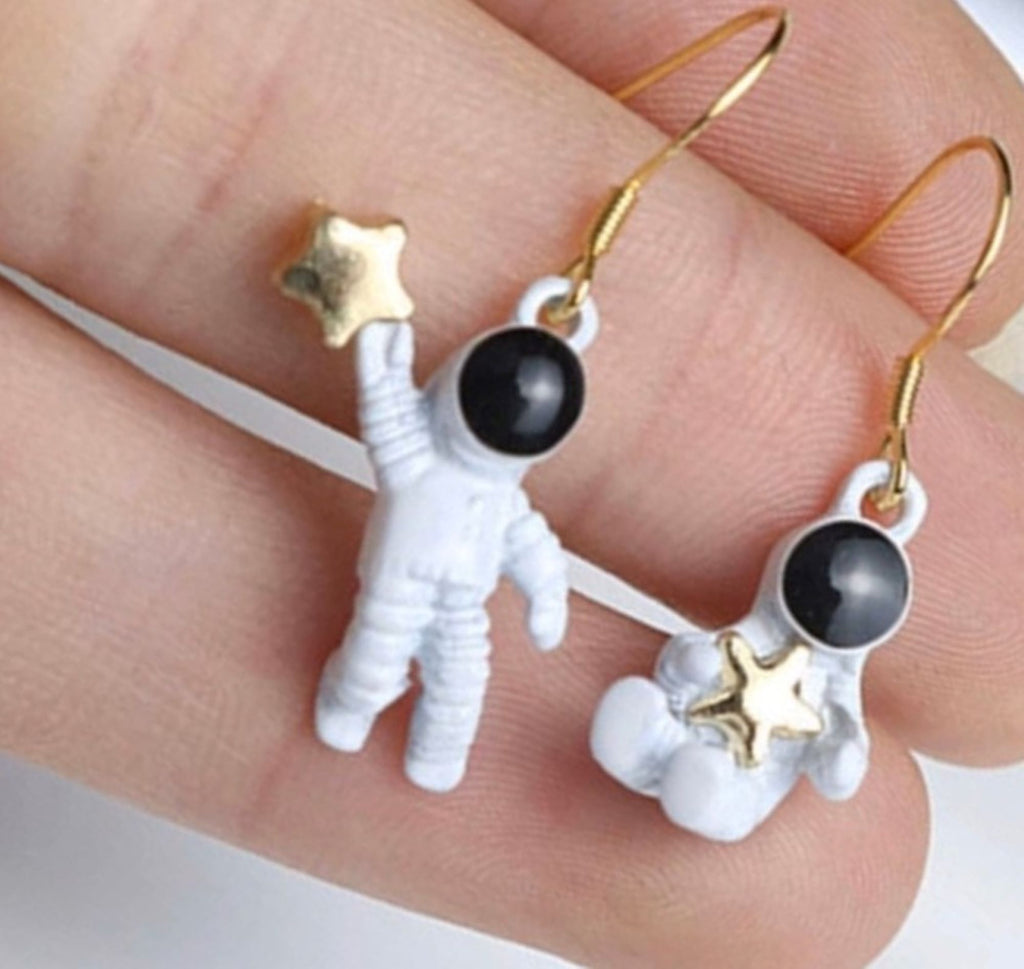 Astronauts Space Earrings