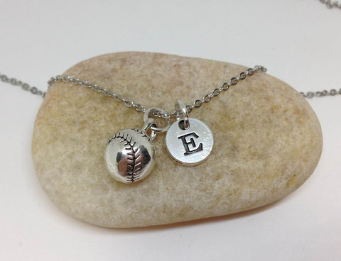 Baseball Charm Necklace,Softball Necklace