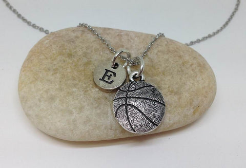 Basketball Charm Personalized Necklace