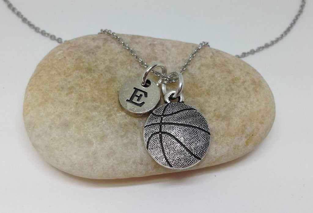 Basketball Charm Necklace, Personalized Team Necklace
