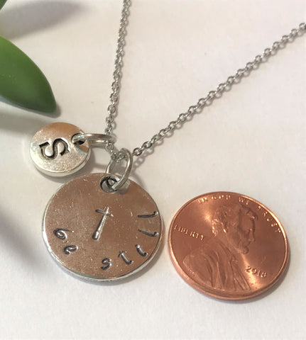 Be Still Cross Charm Necklace - Mother Daughter Best Friend Jewelry