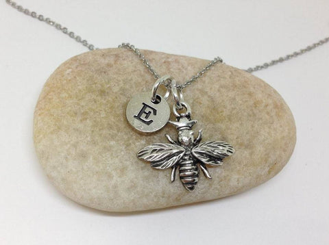 Bee Charm Personalized Necklace