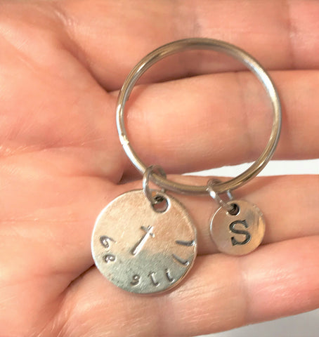 Be Still Cross Key Chain, Christian Gifts